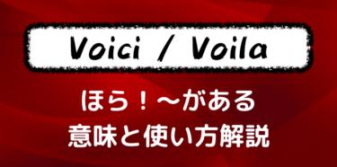 【Voilà・Voiciの用法】フランス語の超便利な表現!意味と使い方を解説します!